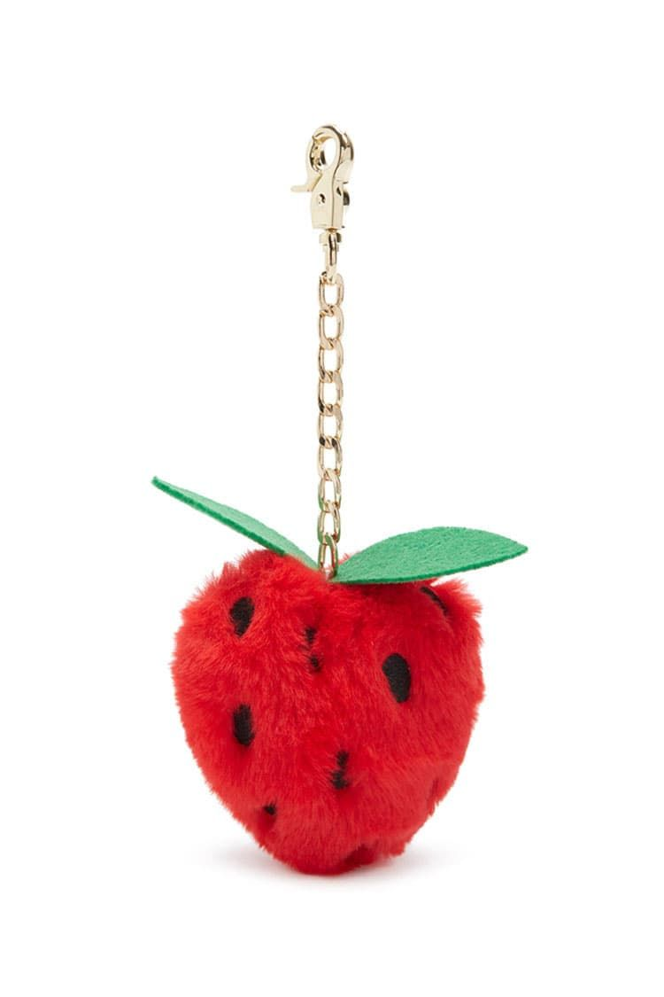 Product Name Faux Fur Strawberry Keychain 89954f028