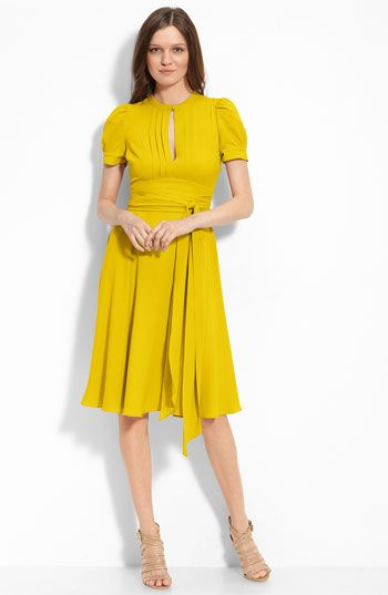 MARC BY MARC JACOBS Puff Sleeve Silk Dress | Fashion | Pinterest ...