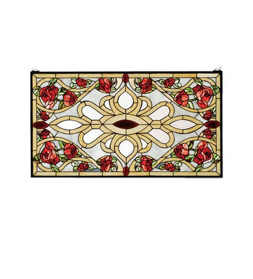 Meyda Tiffany 67139 Bed Of Roses Stained Glass Window