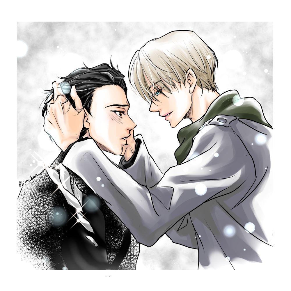 Yuuri and Victor Yuri!!! on Ice by 蓮の花 on pixiv Manga
