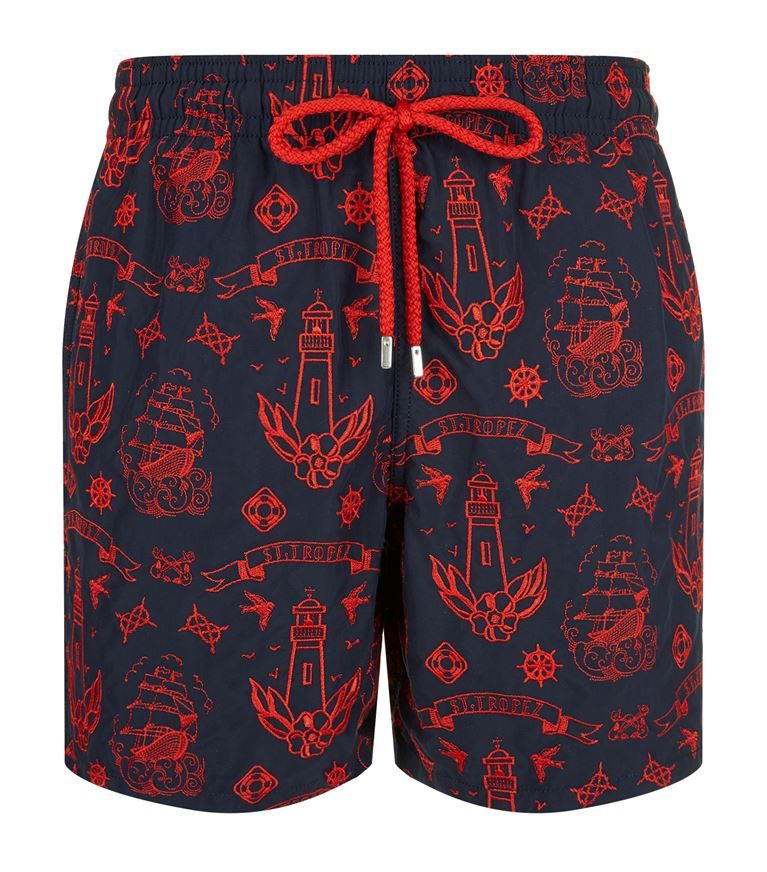 f278f690b9 VILEBREQUIN Embroidered Mistral Tattoo Swim Shorts. #vilebrequin #cloth #