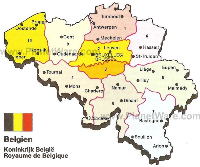 Map Of Kingdom Of Belgium PlanetWare JP Bridal Shower - Map of belgium
