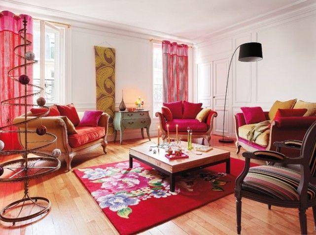 salon colore et classique | Salon | Pinterest | Salon coloré ...