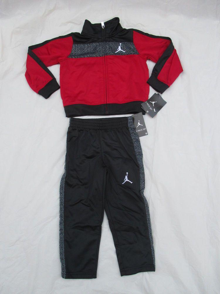 95a5af935a92 Nike Boys Michael Jordan Black Red Tracksuit 2 Piece Set Size Newborn-5T  752178  NikeMichaelJordan  CasualFormalParty