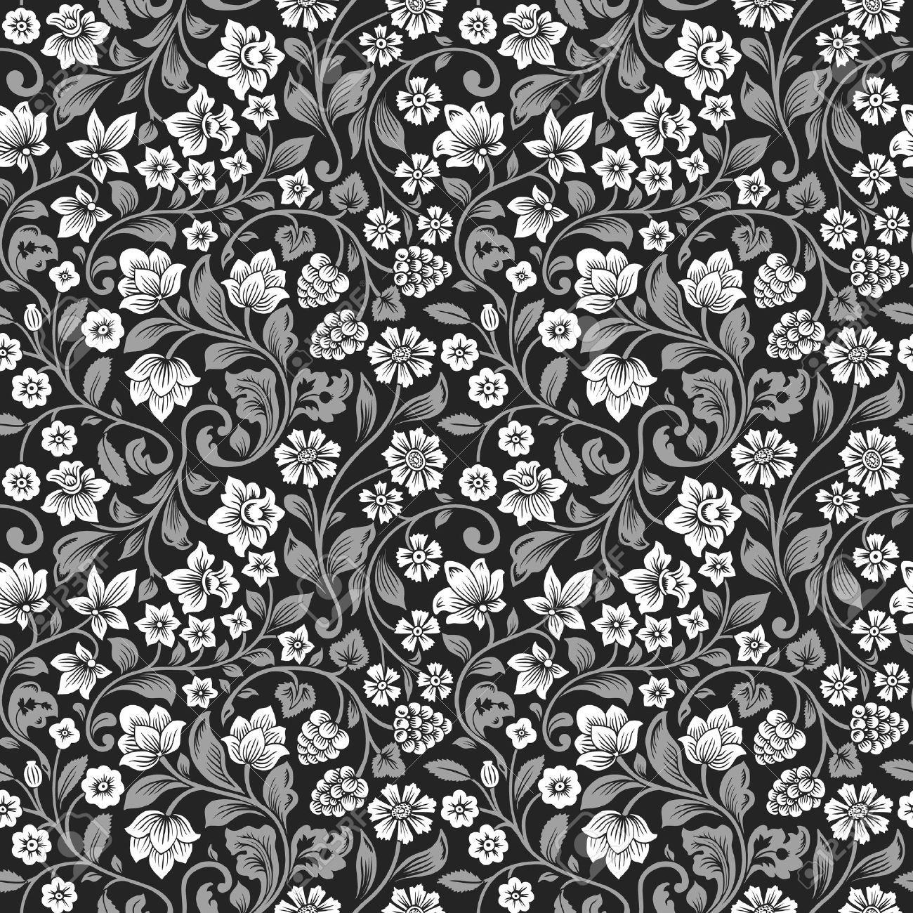 Stock Vector Vintage Floral Pattern Pattern Background Vintage