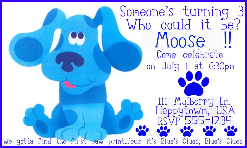 17 Best images about Blues Clues Birthday Theme – Blues Clues Party Invitations