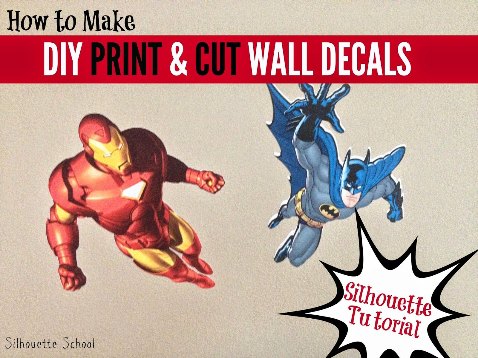 Silhouette School DIY Print And Cut Wall Decals Using Square - How to make vinyl wall decals with silhouette cameo