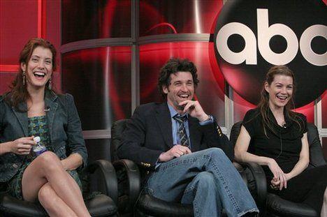 Kate Walsh Patrick Dempsey And Ellen Pompeo Meredith And Derek