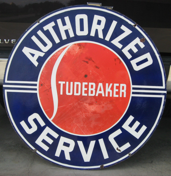 Studebaker Service Porcelain Advertising Sign