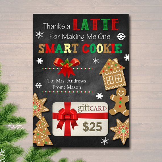 Editable Coffee Card Holder Thanks A Latte For Making Me One Etsy Teacher Holiday Gifts Holiday Gift Card Holders Christmas Gift Card