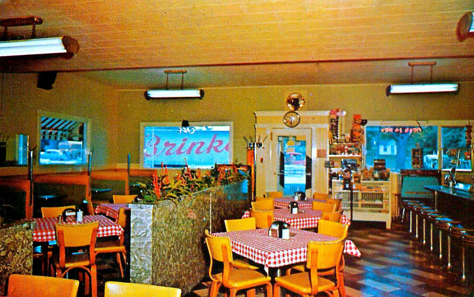 Cardinal Inn Cafe Pittsfield Illinois Vintage Dining