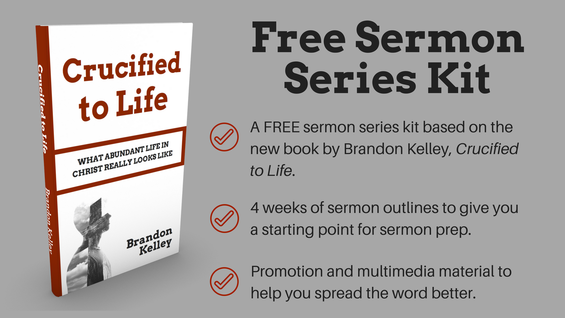 Do you want your people to grow into disciples of Jesus Christ? If so, I've got just the thing for you.          Free 4-Week Sermon Series Kit: Crucified to Life  I put together 4 weeks of sermon outlines