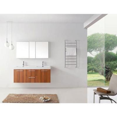 Virtu Usa Midori 55 In W Bath Vanity In Plum With Polymarble Vanity Top In White Polymarble With Square Basin And Faucet Jd 50154 Pl The Home Depot Bathroom Vanity Double Sink Bathroom