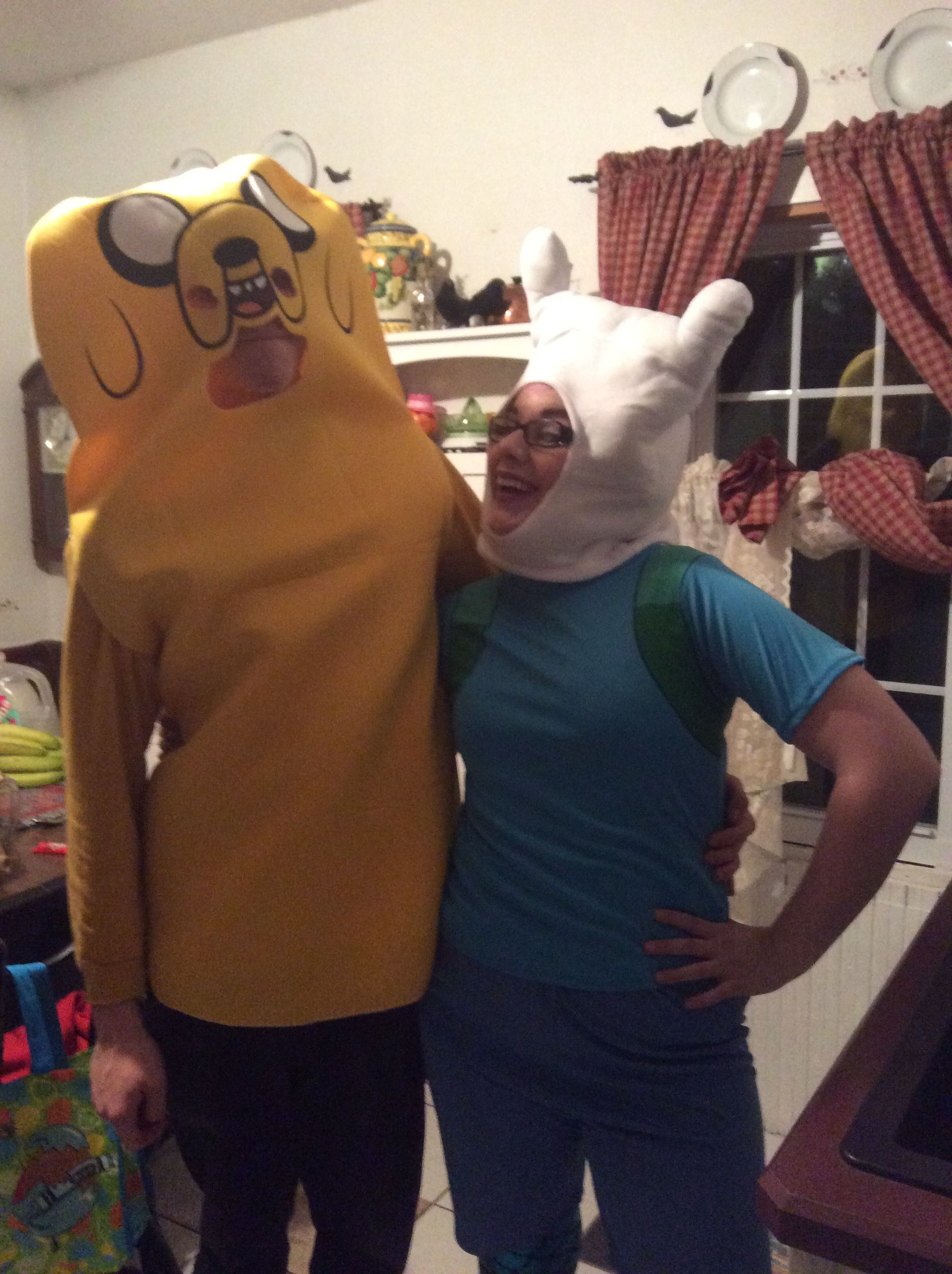 Me and the babe as Jake and Finn from Adventure Time!