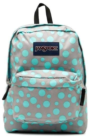 9a9dc9fe1544 JANSPORT Superbreak Backpack. Single top handle Dual adjustable padded back  straps Zip-around closure Exterior features padded back