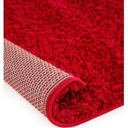 Photo of benuta Hochflor Shaggyteppich Swirls Rot 160×230 cm – Langflor Teppich für Wohnzimmer benuta