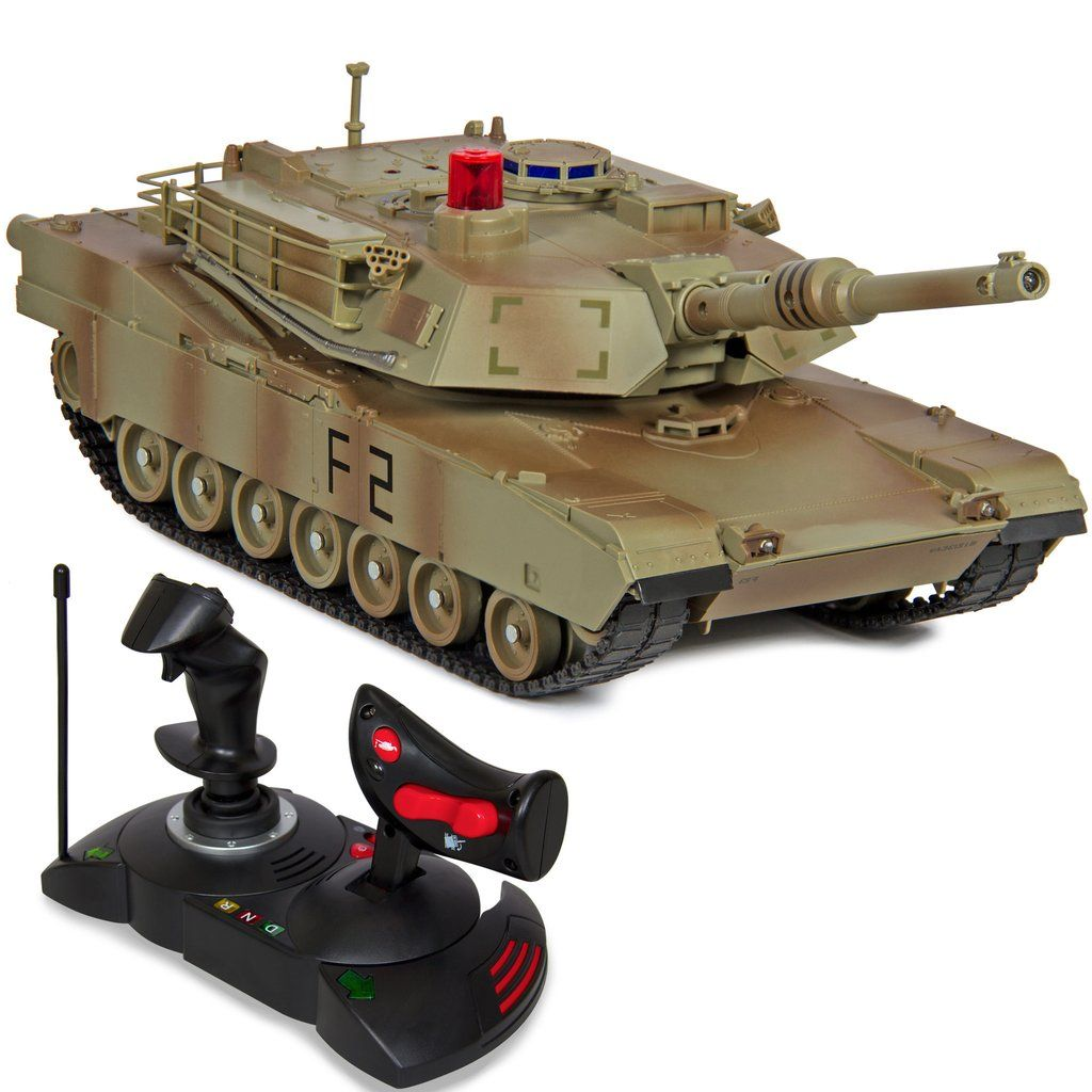 Best Choice Products 1/14 Scale RC Military Tank Gravity Sensor Remote Control Car- Green Camouflage