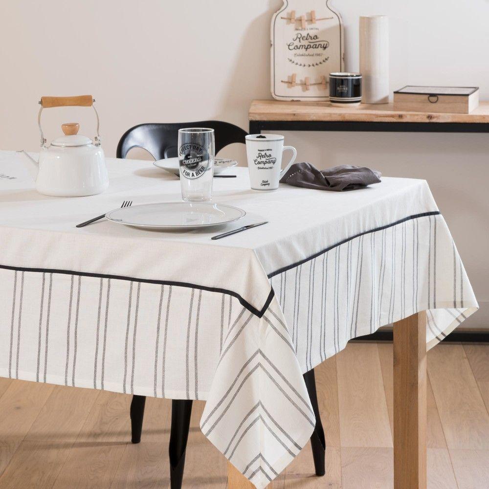 Linge De Table Linge De Table Deco Maison Nappe Noire