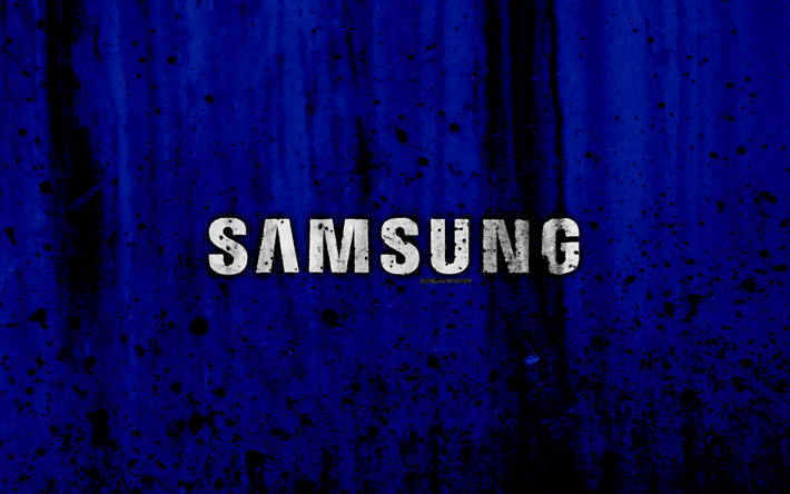 Download Wallpapers Samsung 4k Logo Grunge Blue Backgroud Samsung Logo Besthqwallpapers Com Samsung Logo Samsung Wallpaper Samsung Wallpaper Hd
