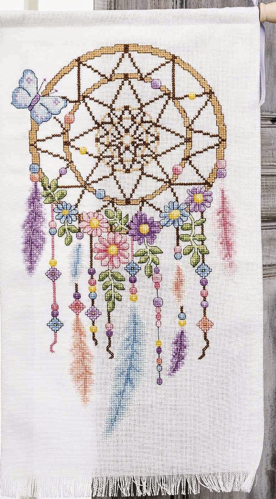 Delightful Dreamcatcher | Cross stitch Native | Pinterest | Punto de ...