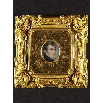 Self Portrait of Anthony Stewart (Portrait miniature)