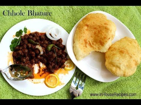Chole Bhature Recipe With Black (color) Chole - inHouseRecipes - YouTube