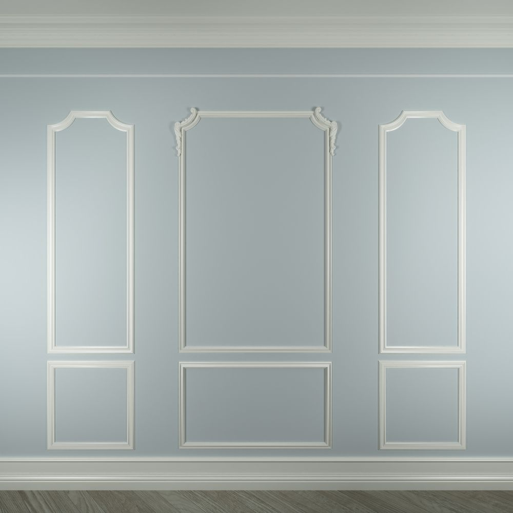 Contrasting color on trim and wall. Shows high moulding. | walls ...