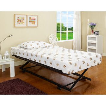 InRoom Designs Rollout Pop Up Trundle Bed very much like what we had
