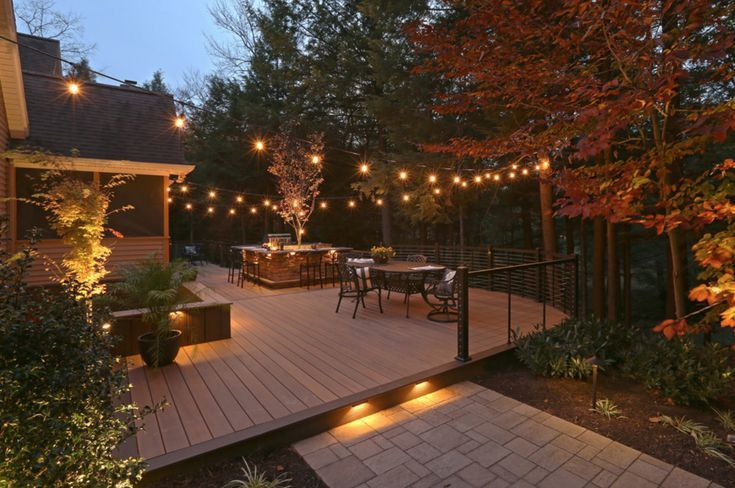 15 Pretty Ways To Light Up Your Deck In 2020 Deck Lighting