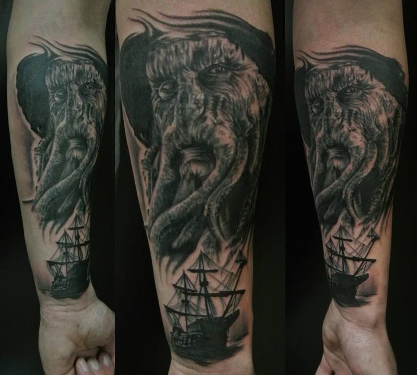 davy jones from pirates of the caribbean tattoo inspiration pinterest davy jones ace. Black Bedroom Furniture Sets. Home Design Ideas