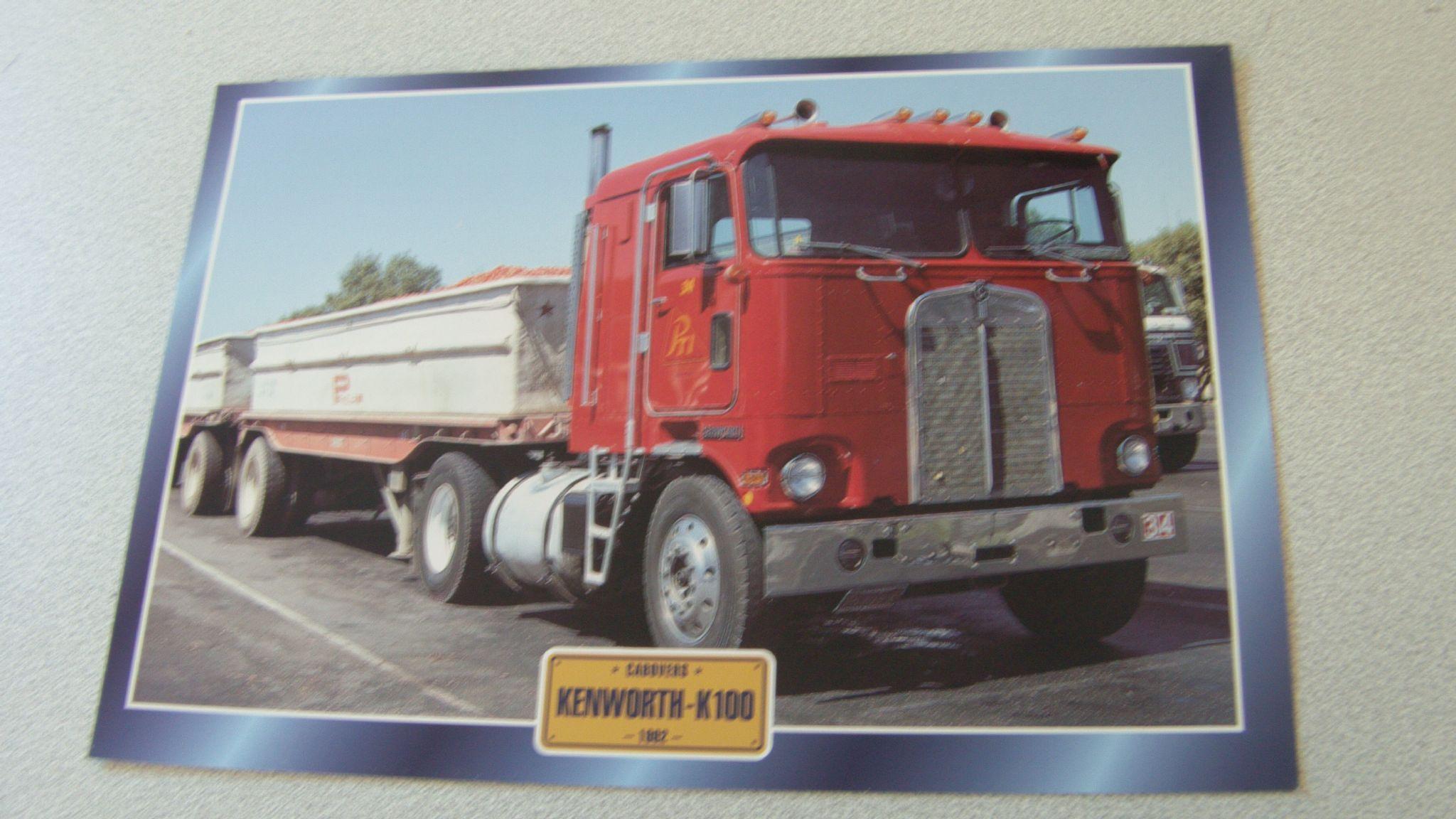 Atlas Truck Sales >> Kenworth K100 1962 Truck Framed Picture Trucks Cars Art