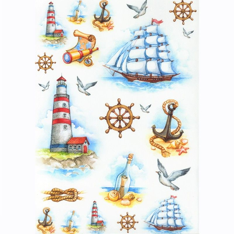 Картинки на морскую тему скрапбукинг