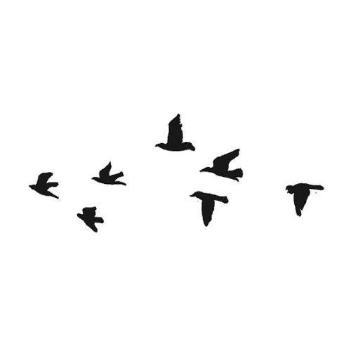 Flock of Black Birds Temporary Tattoo (Set of 2):Amazon:Beauty ...