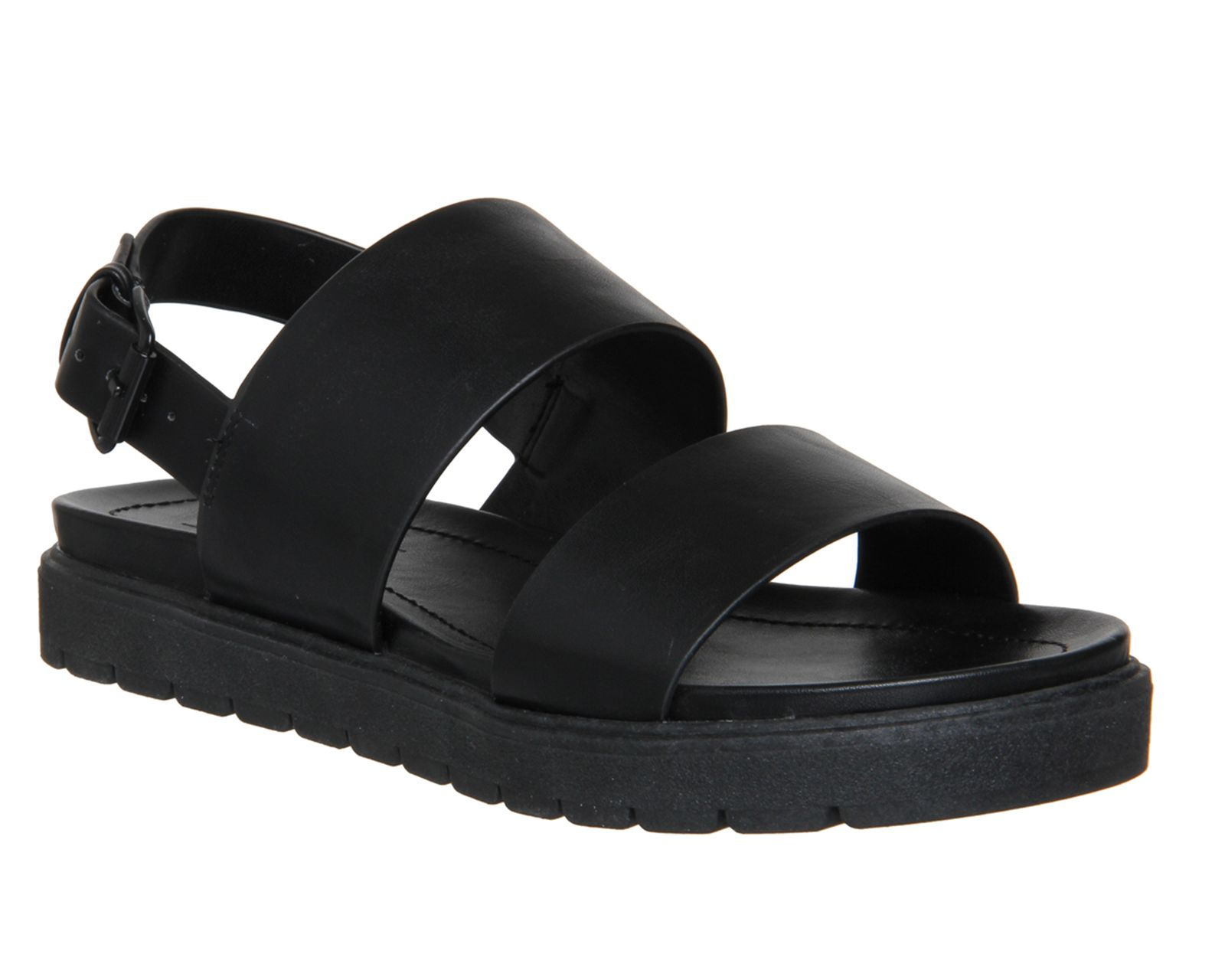 5c6bbe937 Buy Black Office Optic Double Strap Sling Sandals from OFFICE.co.uk ...