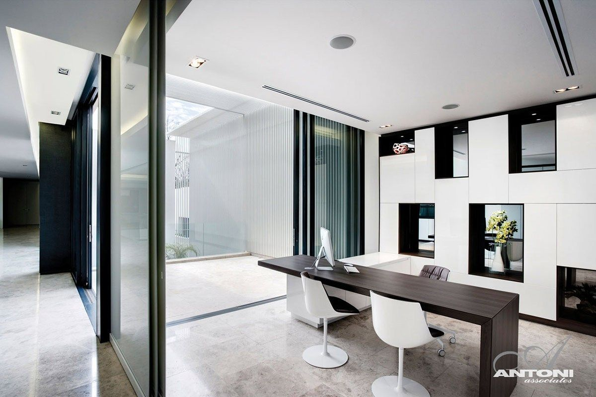 Contemporary Home Office Luxury Modern Homes Modern Office