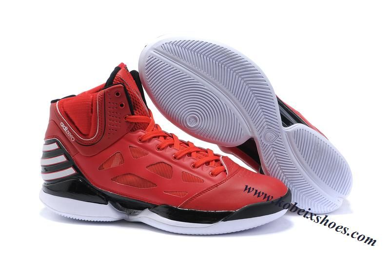 low priced b94b1 ccf6b Adidas AdiZero Rose Dominate Derrick Rose Shoes Red Black