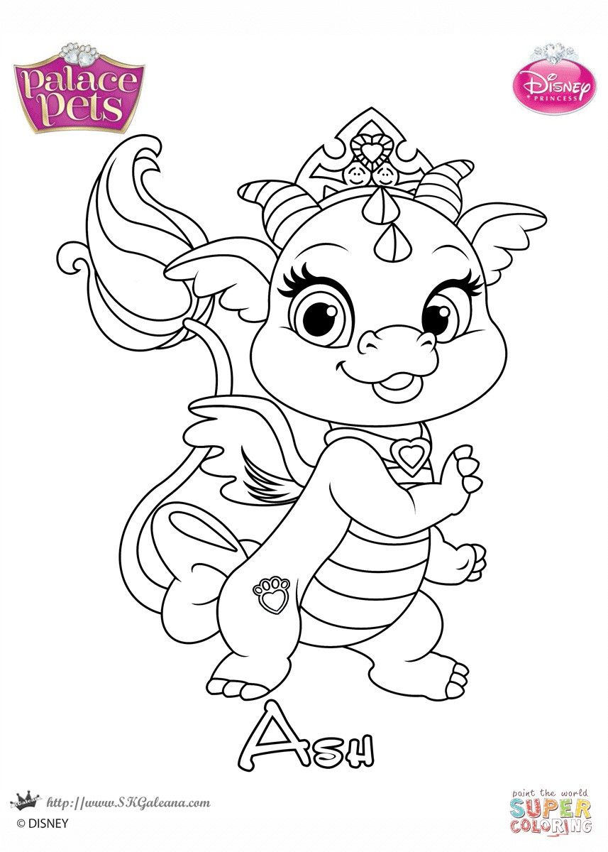 Free Printable Princess Palace Pets Coloring Pages