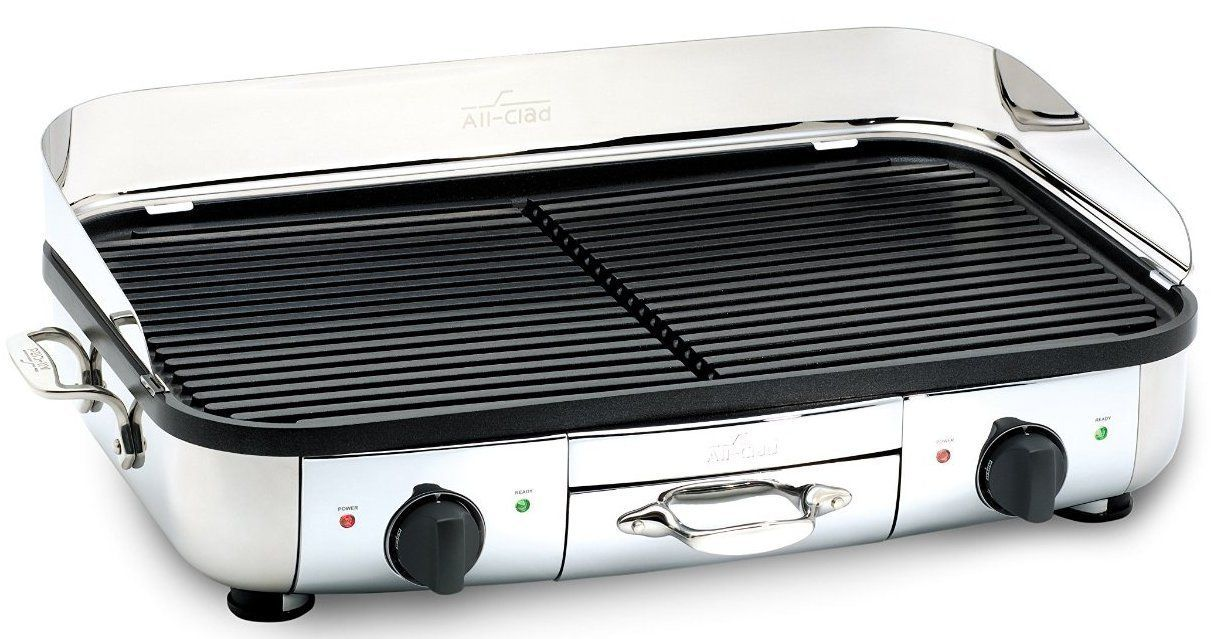 Amazon.com: All-Clad TG700262 Electric Indoor Grill with Extra-Large ...