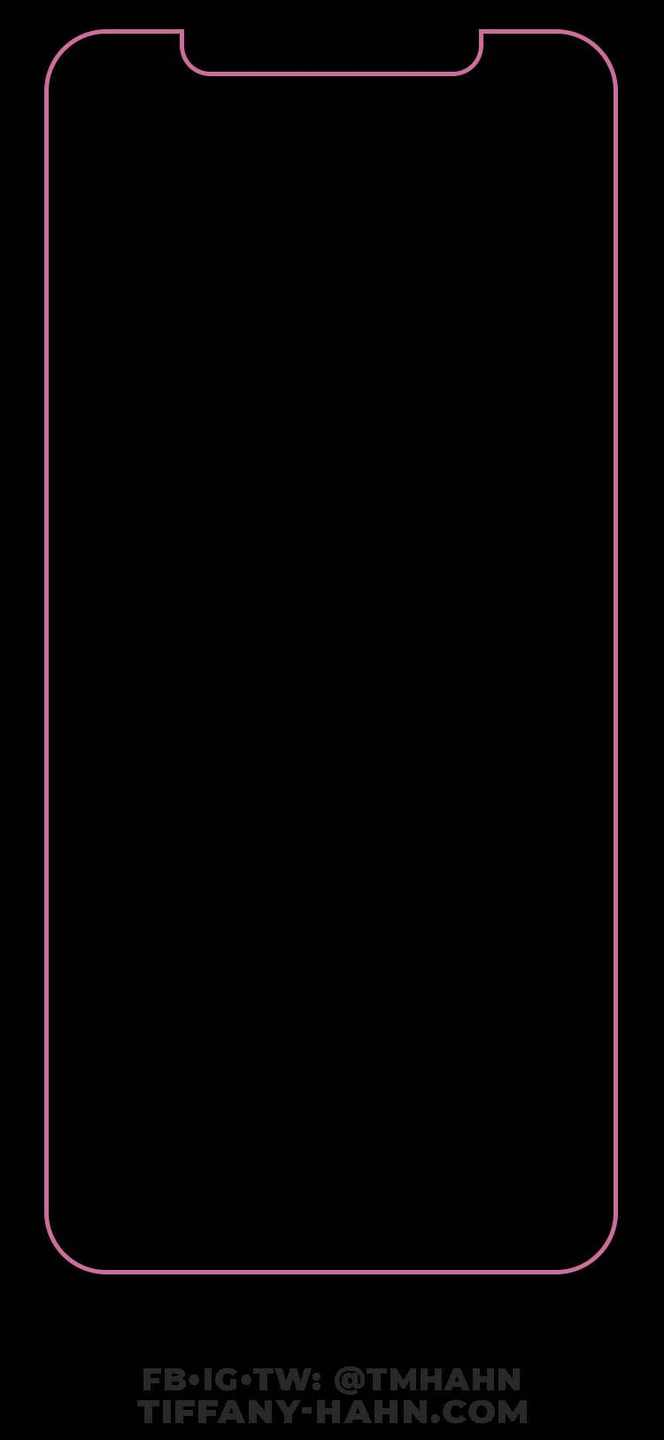 Iphone Xs Max Wallpaper Pink Black Outline Home Screen Black Wallpaper Iphone Dark Wallpaper Iphone Black Wallpaper