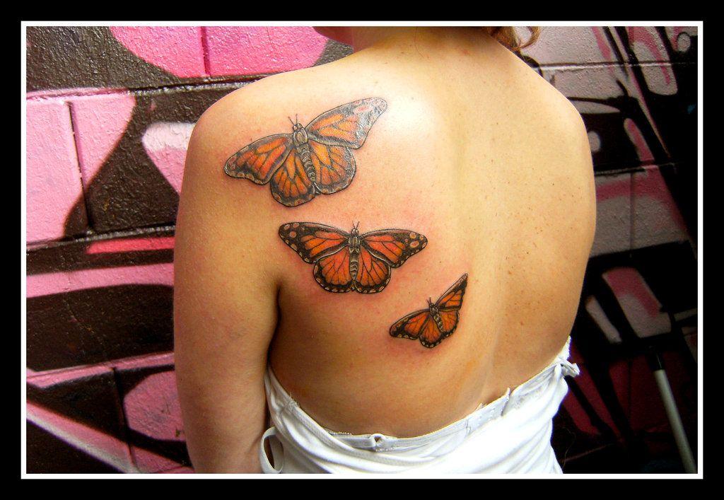 sooo looks like that hurt!!! Butterfly tattoo, Monarch