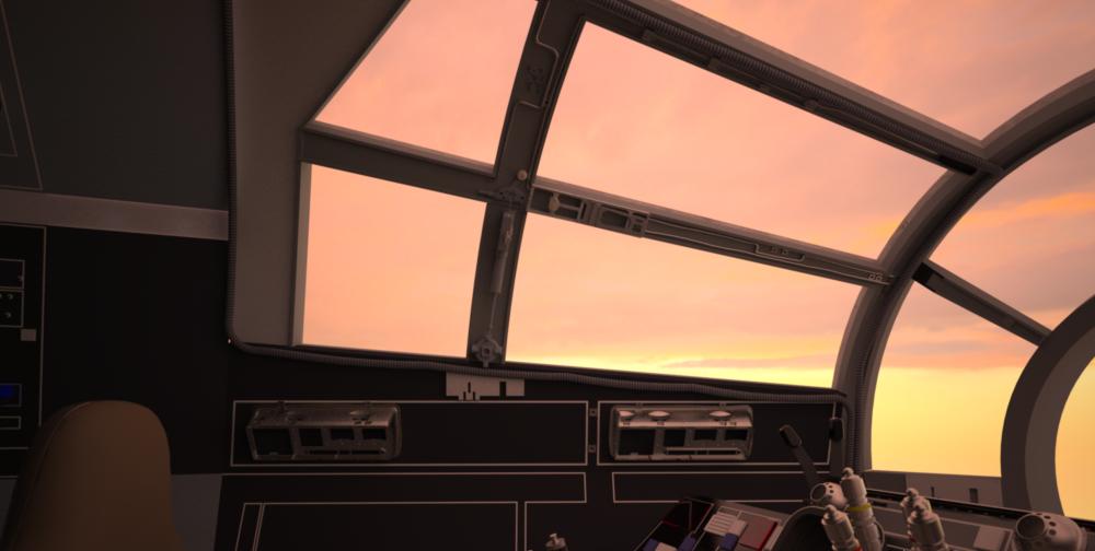 Screen Accurate Millennium Falcon Cockpit Cg Model Cockpit Millennium Falcon Falcon
