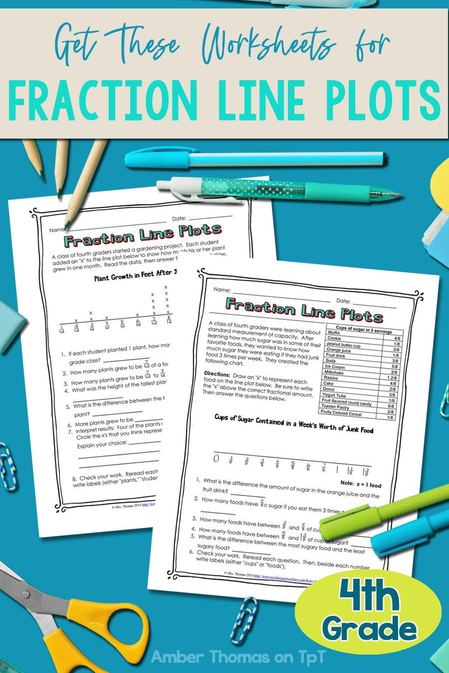 Fraction Line Plot Worksheets In 2020 Elementary Math Lessons Line Plot Worksheets Elementary Teaching Resources [ 1350 x 900 Pixel ]