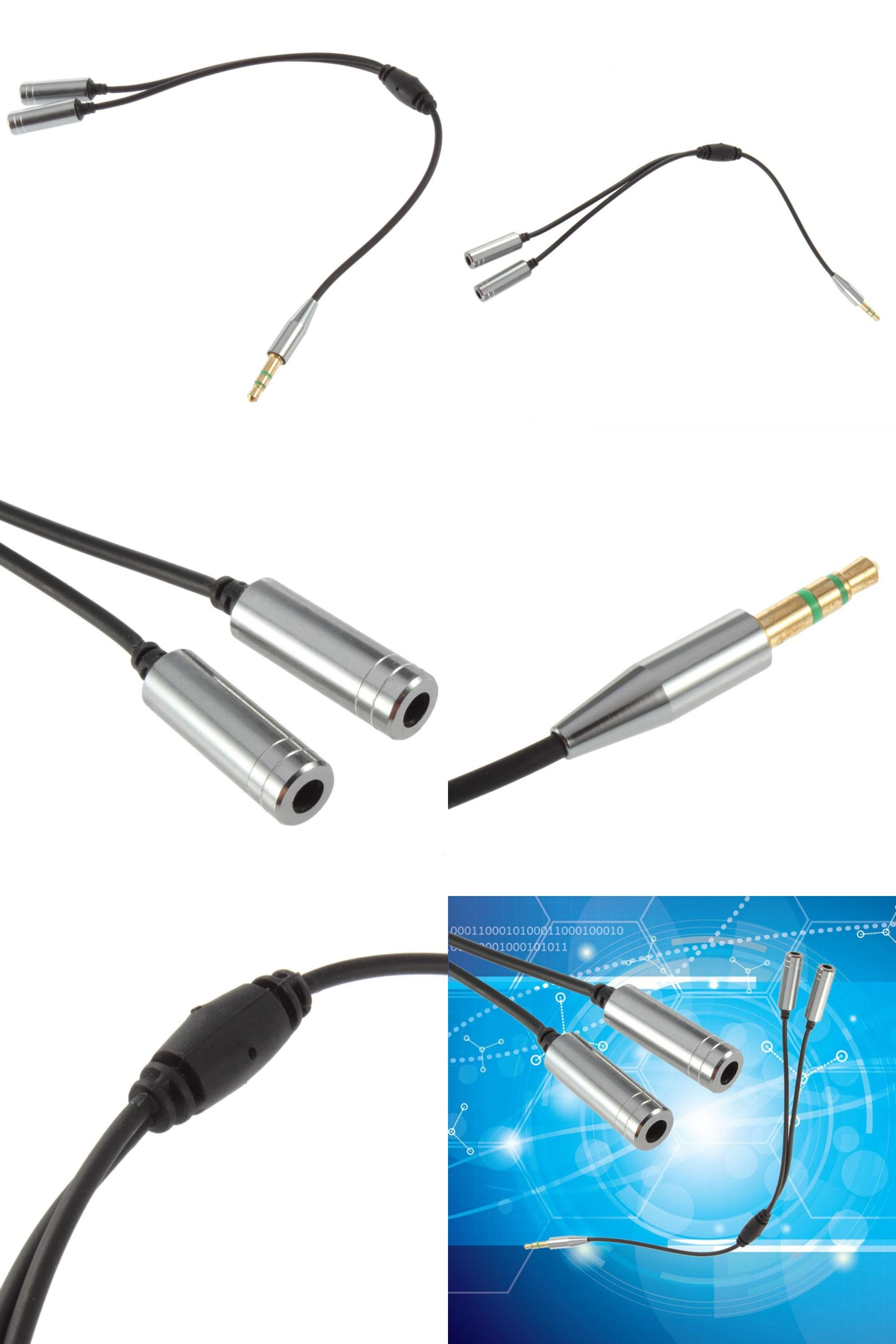 Visit To Buy Audio Cable Jack 3 5mm Male To 2 Female Earphone Extension Cable 3 5mm Headphone Splitter Adapter For I Headphone Splitter Audio Cable Headphone