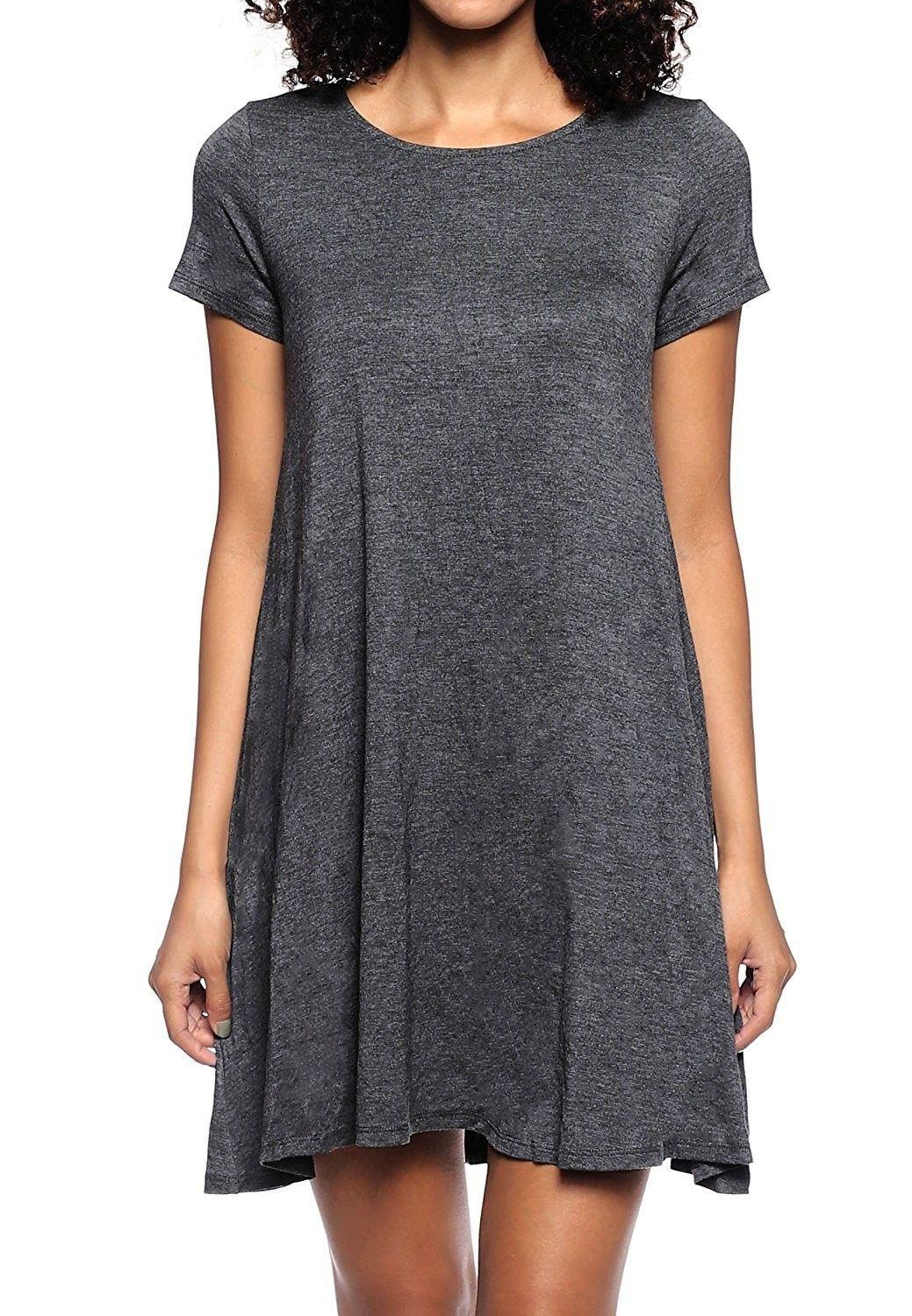 00a18082ce218 Women's Clothing, Dresses, Casual, Stretchy Flowy Loose Fit Tunic Casual  Beach Regular Plus Size Dresses - Ss Charcoal - CH12L9R5T0P #fashion #dress  #women ...