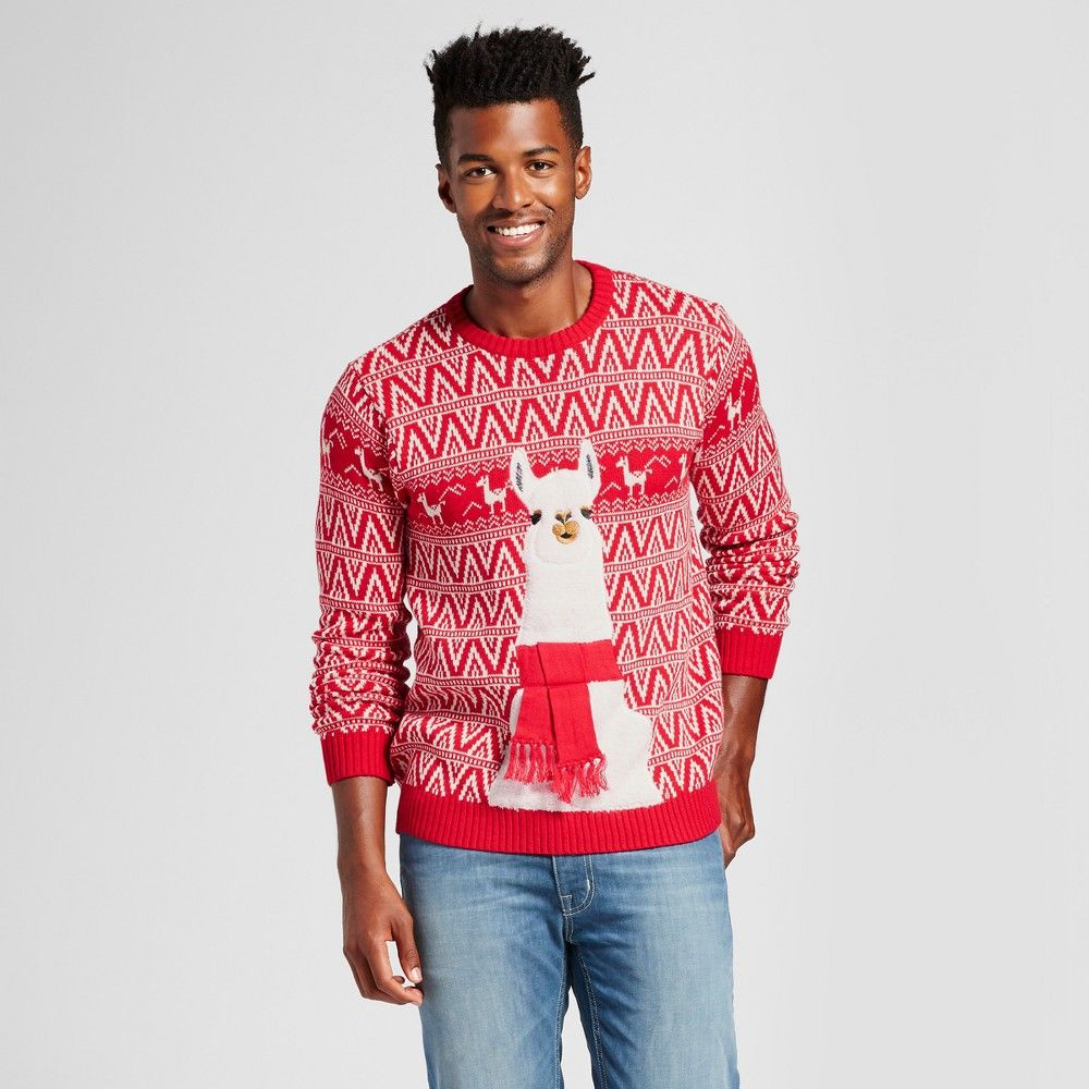 Mens Ugly Holiday Llama Sweater 33 Degrees Red Xxl Products