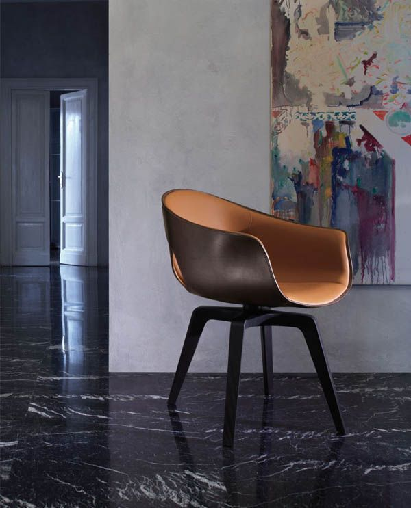 Ginger Chair by Roberto Lazzeroni for Poltrona Frau