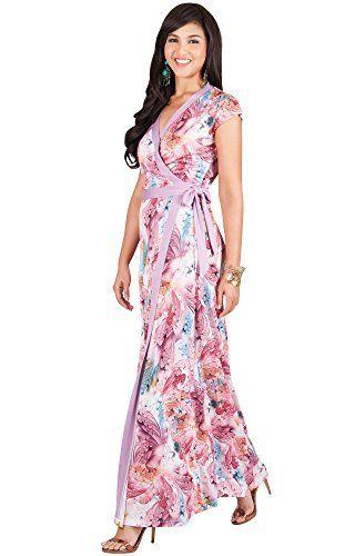 Cap Sleeve Long Summer Dresses