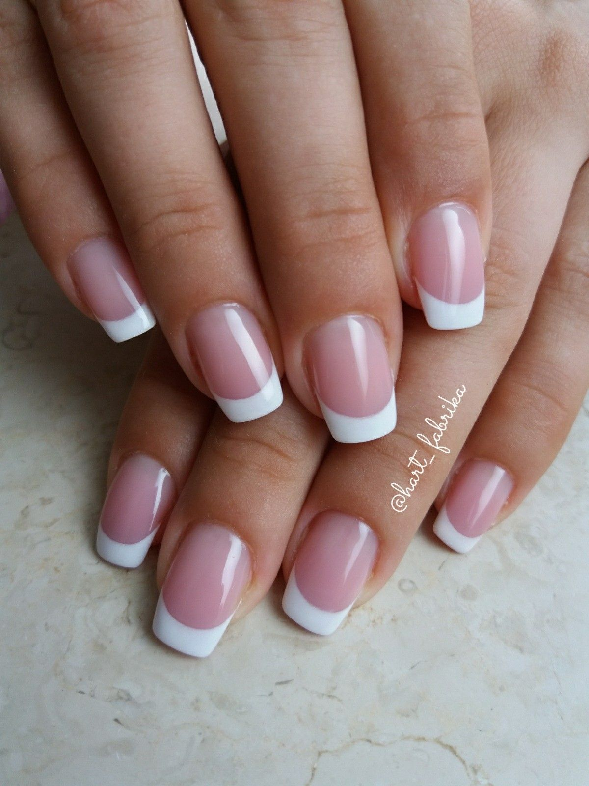 French Manicure Gel Nails French Tip Nails French Nails Casual Nails