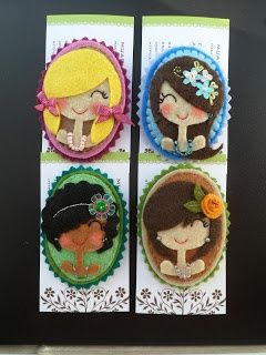 BEAUTIFUL FELT BROOCHES