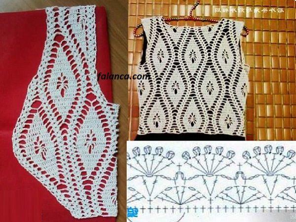 Crochet Patterned Summer Vest Construction 2